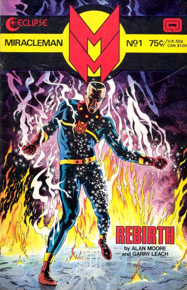 Portada del primer número de Miracleman, revivida por Alan Moore.