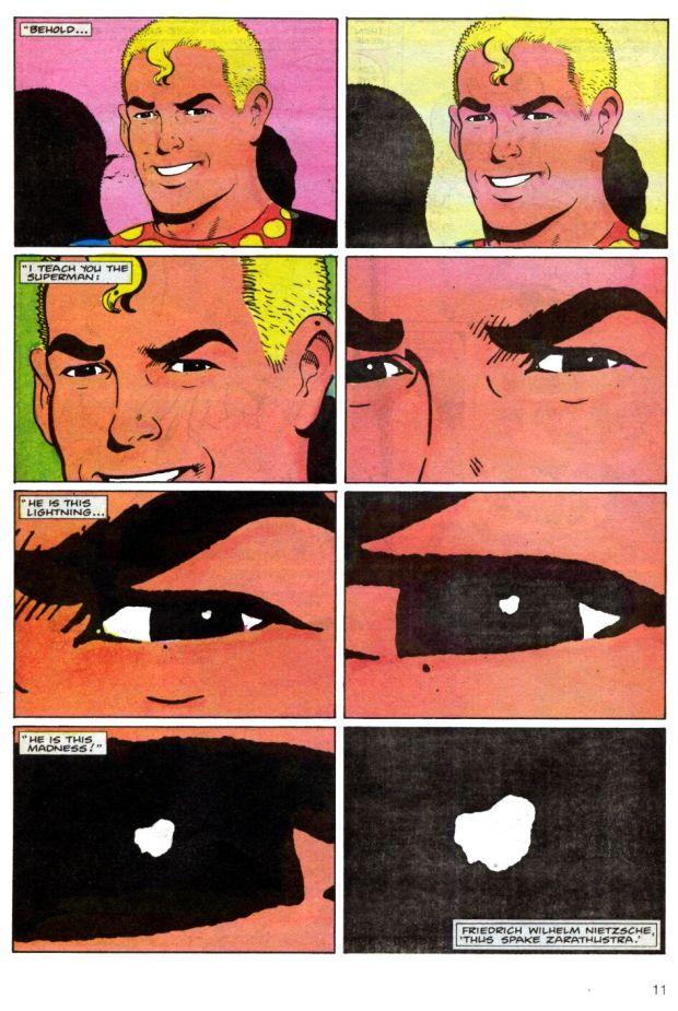 Marvelman como el superhombre de Nietzche.