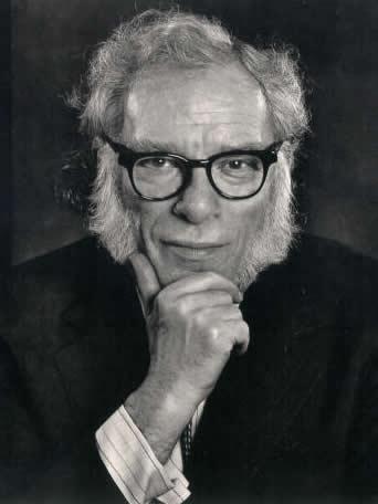 Isaac Asimov, pensativo y desafiante.