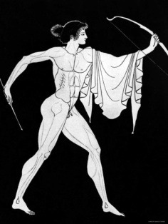 drawing-from-a-greek-krater-of-the-greek-deity-apollo-with-bow-and-arrow_i-G-26-2696-FOOUD00Z